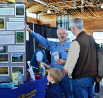Friends President Doug Spencer promotes the Refuge Complex at the 2013 Oregon Gardens Earth Day Celebration, Photo courtesy of the Oregon Gardens